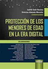 Capa do livro: Protección de los Menores de Edad en la Era Digital, Coordenadores: Judith Solé Resina e Vinícius Almada Mozetic