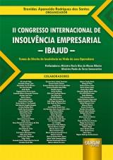 Capa do livro: II Congresso Internacional de Insolvência Empresarial - IBAJUD, Organizador: Eronides Aparecido Rodrigues dos Santos