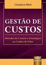 Capa do livro: Gestão de Custos, Claudecir Bleil