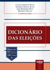Capa do livro: Dicionário das Eleições, Coordenadores: Cláudio André de Souza, Frederico Franco Alvim, Jaime Barreiros Neto e Humberto Dantas