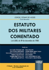 Capa do livro: Estatuto dos Militares Comentado, Coordenador: Jorge Cesar de Assis
