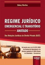Capa do livro: Regime Jurídico Emergencial e Transitório - Anotado, Sidney Martins