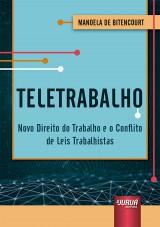 Capa do livro: Teletrabalho, Manoela de Bitencourt
