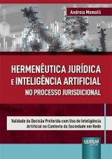 Capa do livro: Hermenêutica Jurídica e Inteligência Artificial no Processo Jurisdicional, Andreia Momolli