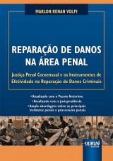 Capa do livro: Reparação de Danos na Área Penal, Marlon Renan Volpi