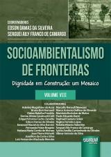 Capa do livro: Socioambientalismo de Fronteiras - Volume VIII, Coordenadores: Edson Damas da Silveira e Serguei Aily Franco de Camargo