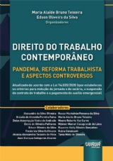 Capa do livro: Direito do Trabalho Contemporâneo, Organizadores: Maria Alaíde Bruno Teixeira e Edson Oliveira da Silva