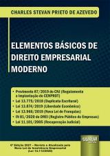 Capa do livro: Elementos Básicos de Direito Empresarial Moderno, Charles Stevan Prieto de Azevedo