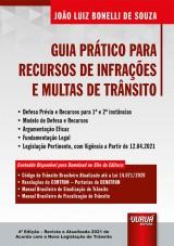 Capa do livro: Guia Prático para Recursos de Infrações e Multas de Trânsito, João Luiz Bonelli de Souza
