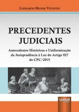 Capa do livro: Precedentes Judiciais, Leonardo Manso Vicentin