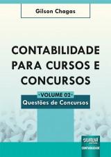 Capa do livro: Contabilidade para Cursos e Concursos - Volume 02, Gilson Chagas