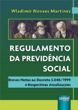 Capa do livro: Regulamento da Previdência Social, Wladimir Novaes Martinez