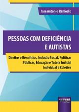 Capa do livro: Pessoas com Deficiência e Autistas, José Antonio Remedio