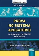 Capa do livro: Prova no Sistema Acusatório, Maurício Vasconcelos