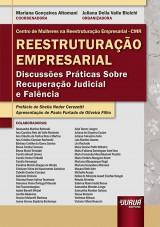 Capa do livro: Reestruturação Empresarial, Coordenadora: Mariana Gonçalves Altomani – Organizadora: Juliana Della Valle Biolchi