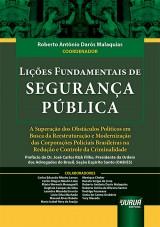 Capa do livro: Lições Fundamentais de Segurança Pública, Coordenador: Roberto Antônio Darós Malaquias
