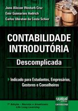 Capa do livro: Contabilidade Introdutória - Descomplicada, June Alisson Westarb Cruz, Emir Guimarães Andrich e Carlos Ubiratan da Costa Schier